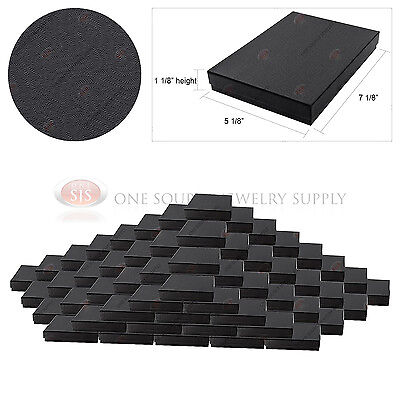 100 Black Swirl Gift Jewelry Cotton Filled Boxes 7 18 X 5 18 X 1 18