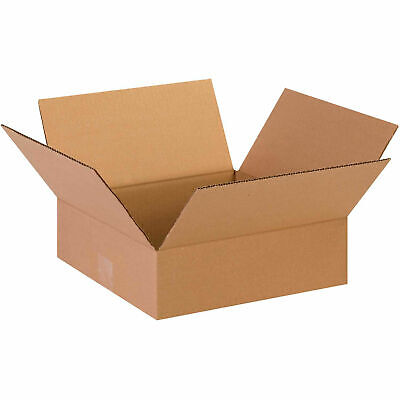 13 X 13 X 4 Flat Cardboard Corrugated Boxes 65 Lbs Capacity Ect-32 Lot Of