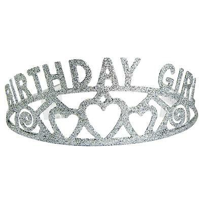 Houseables Birthday Tiara, Party Crown, 5.5 Inches, Plastic, Princess Crowns