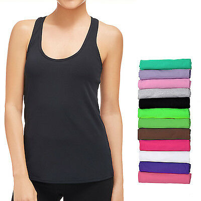12-Pack Women's Sport Yoga Tank Top Racerback Undershirt Camisole Ribbed Cotton