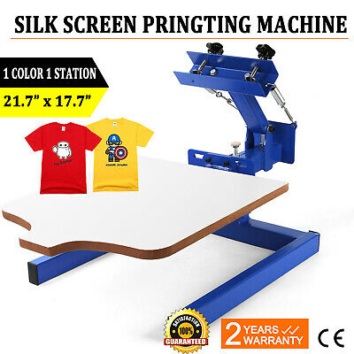 1 Color 1 Station Silk Screen Printing Pressing Machine Printer Screening Print