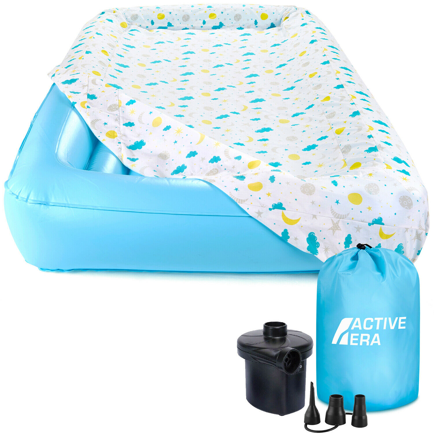 Active Era Kids Air Mattress with Toddler Safety Bumpers, Fi