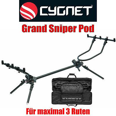 Cygnet Grand Sniper Pod Standard Rod Pod Rodpod für 3 Ruten Rutenhalter
