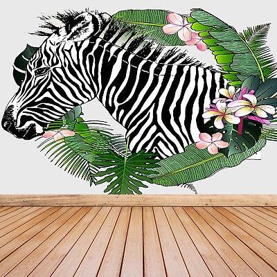 Einfach Zebra (Fototapete Selbstklebend Einfach ablösbar Mehrfach klebbar Zebra)