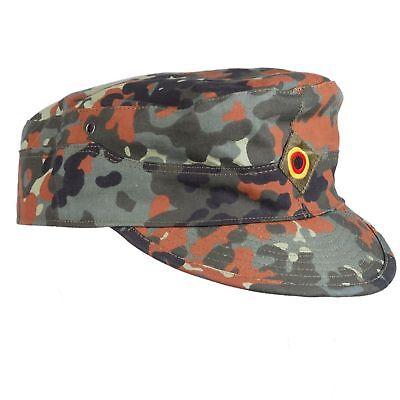 MEN'S WW2 GERMAN ARMY FLECKTARN CAMO MILITARY CAMOUFLAGE FIELD CAP HAT 58cm  ](Ww2 German Hats)