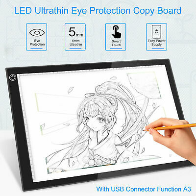 A3 LED Light Box Pad Slim Copyboard Tracing Drawing Board Graphic Tablet Q5Y8