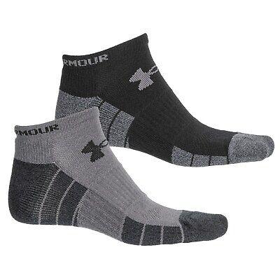 2 Pair Under Armour No Show Golf Socks Men's Shoe Size 9-12.5, Black