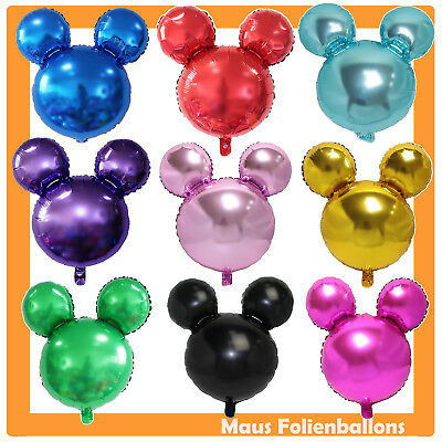 Luftballon Mickey 45cm Dekoration Helium Mouse Minnie Geburtstag Birthday Kinder