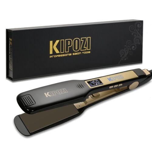 KIPOZI Salon Hair Straightener 1.75 Inch Wide Flat Iron Tita