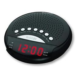 SuperSonic SC-380 Digital AM/FM Radio Dual Alarm Clock  Black Brand New
