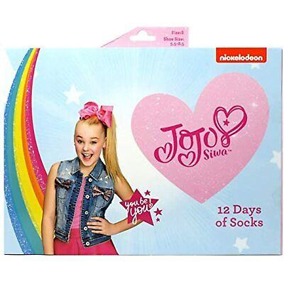 12 Days of Socks JoJo Siwa, Kids Size Medium 9-2.5 Christmas