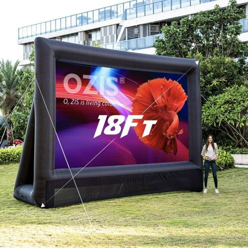 OZIS 18FT Inflatable Movie Screen Outdoor with 350W UL Blower / Open box