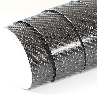 5x DIN A4 Wrapping Folie Matt Schwarz 21cm x 29,7cm Autofolie mit Luftkanälen