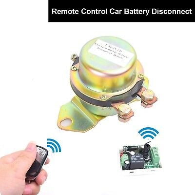 Car Wireless Remote Control Battery Switch Disconnect Latching Relay Anti-the...