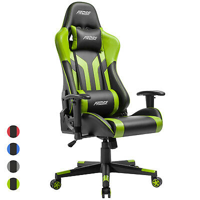 Office Gaming Chair High-back Computer Desk Chair Recliner Swivel Racing Green