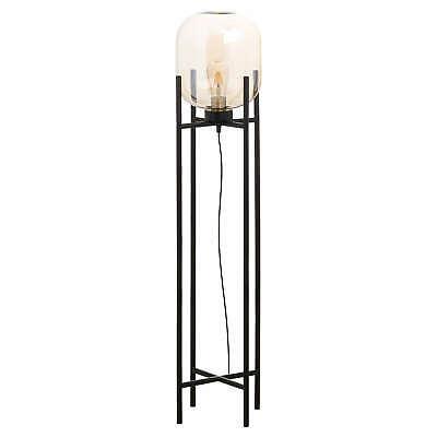 Large Vintage Industrial Glass Floor Lamp | metal and glass floor lamp | SALE