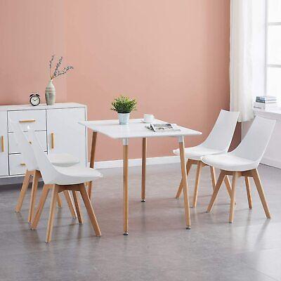 Mesa de comedor de MDF rectangular moderna con patas de Haya, mesa...