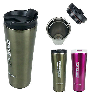 Insulated Coffee Travel Mug Stainless Steel Vacuum Cup Thermos 14oz Top Quality
