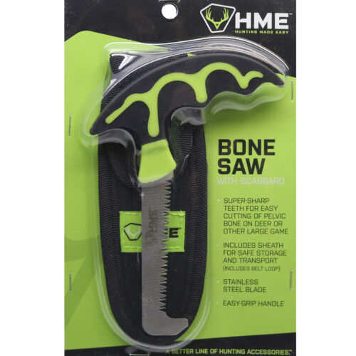 HME Products Bone Saw Stainless Steel Blade with Scabbard & Sheath BSWS #00109