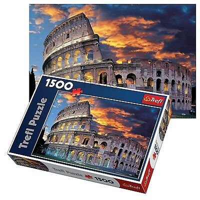 Trefl 1500 Piece Adult Large Rome Colosseum Theatre Floor Jigsaw Puzzle NEW - Adult Puzzles