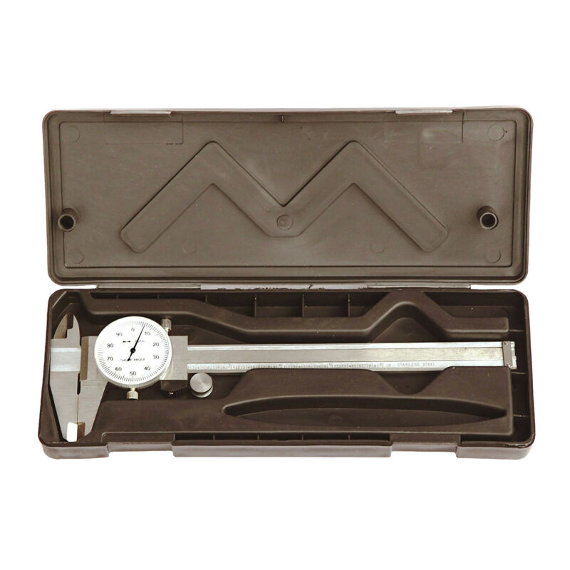 "HFS(R) 0- 6"" Stainless 4 Way Dial Caliper .001"" Shock Proof"