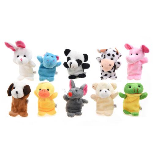 10 Burattini Pupazzi Marionette da Dita Figura Animali Bambini C9L3