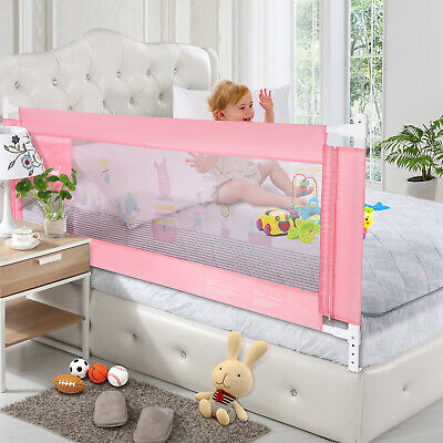 Vertical lift Bed Rails Wall for Baby Child Toddlers Sturdy Safety Bed Guard (Adjustable Guard Rails)