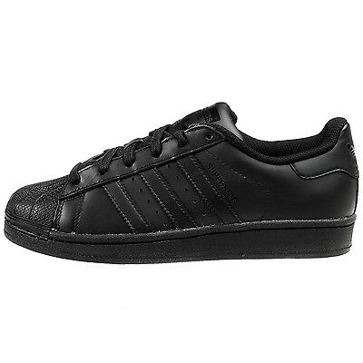 Adidas Superstar Foundation Big Kids B25724 Black Athletic Shoes Youth Size 7
