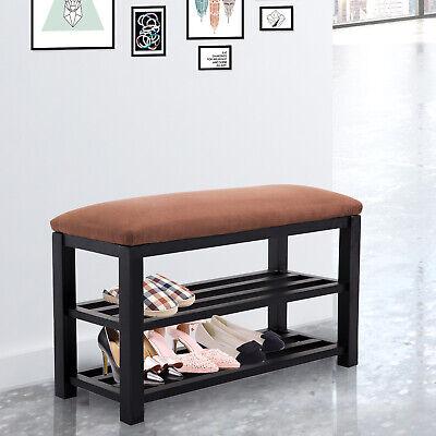 HomCom Wooden Indoor Entryway Storage Shoe Rack Shelf Organi