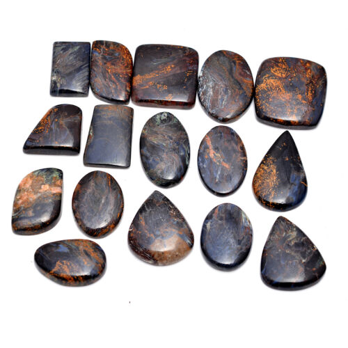 297 Cts 100% Natural Pietersite Untreated Cabochon Loose Gemstones Lot 19mm-30mm