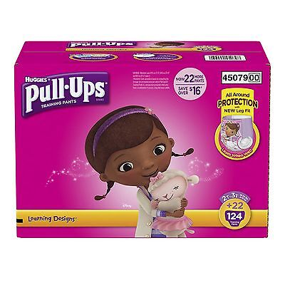 Huggies Pull Ups Training Pants For Girls Size 2T - 3T  Total 124  Count