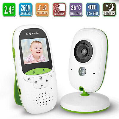 Wireless 2.4GHz Video Baby Monitor Camera Night Vision 2-Way Talk Digital LCD Digital Video Baby Monitors