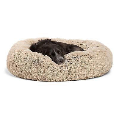"NEW SHERI LUXURY SHAG FUAX FUR DONUT CUDDLER BED DOGS CATS 30""X30"" WASHABLE"