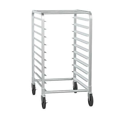 10 Tier Kitchen Aluminum Bakery Rack Bun Pan Sheet Racking Trolley For Cafeteria