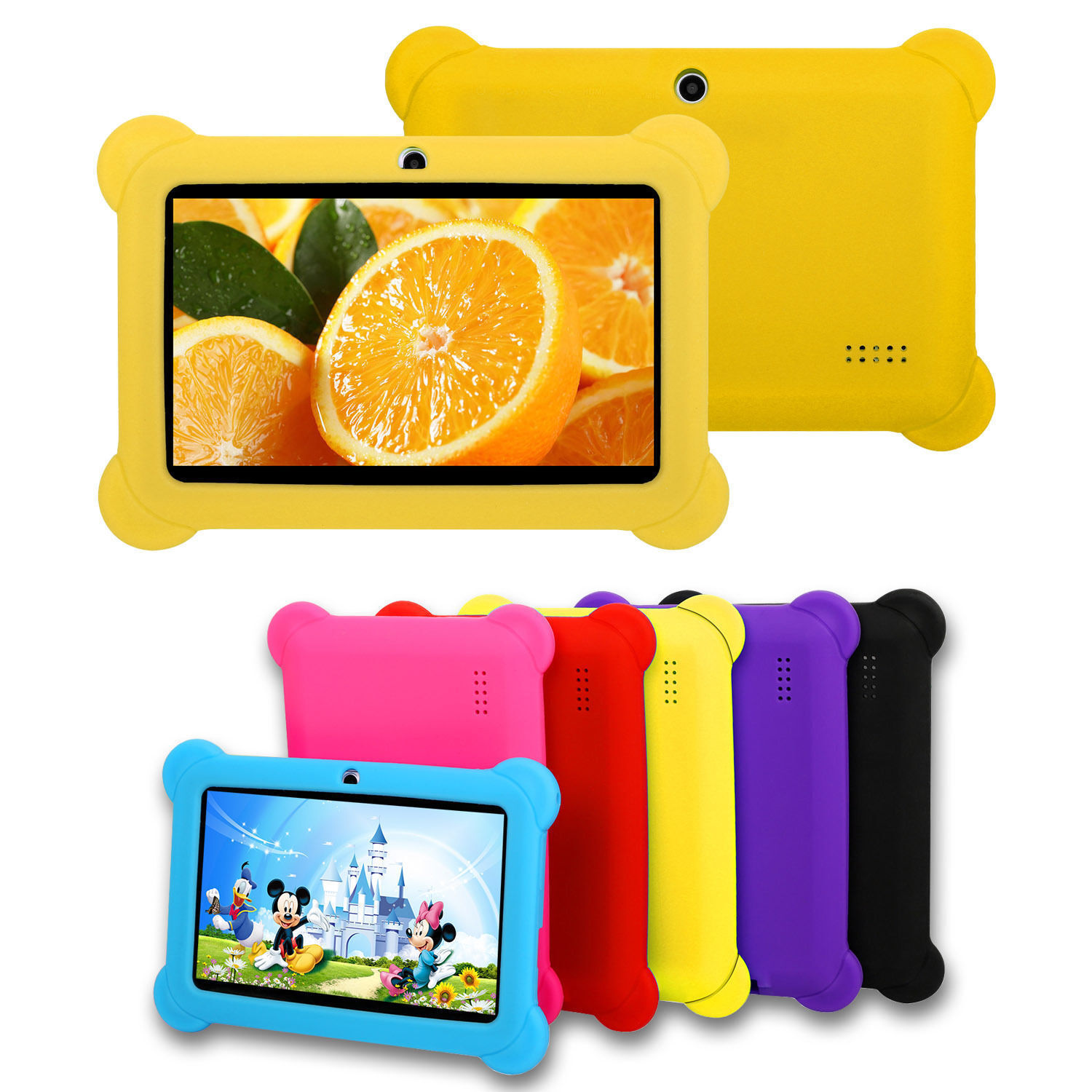 "For 7"" Inch Tablet Universal Kids Shockproof Case Rubber Sof"