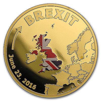 2016 Cook Islands 1 10 Oz Gold Brexit Proof   Sku  102379