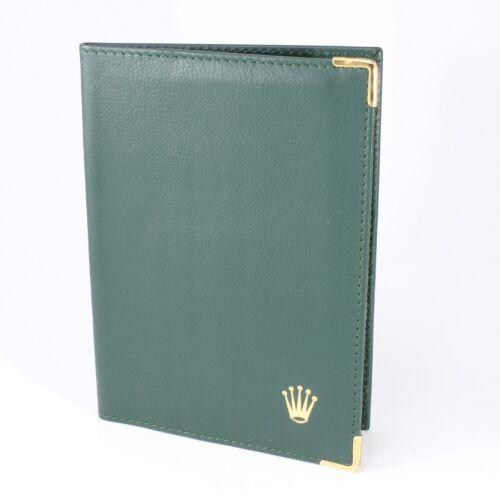 Rolex Dark Green Vintage Leather Passport Holder and Card Wallet