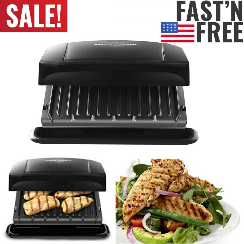 George Foreman 4-Serving Classic Plate Electric Indoor Grill