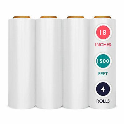 Pre-stretch Wrap 18 X 1500 Plastic Bundling Shrink Film 4 Rolls