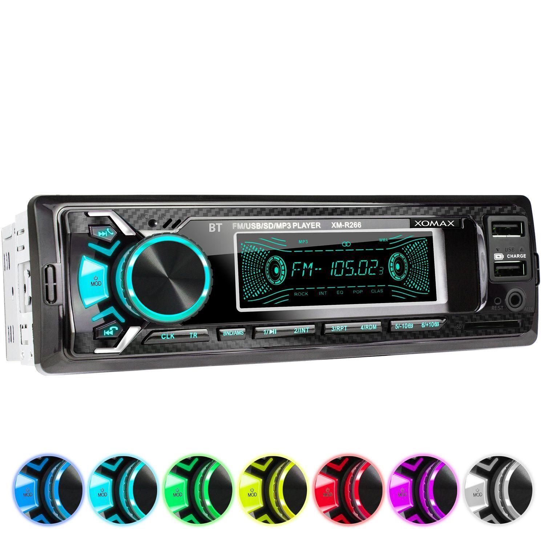 AUTORADIO MIT BLUETOOTH FREISPRECH-EINRICHTUNG USB SD AUX MP3 1DIN OHNE CD