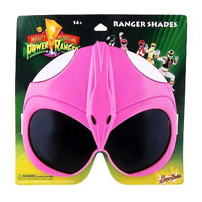 Pink Sunstaches Glasses Power Rangers Fancy Dress Halloween Costume - Power Rangers Glasses
