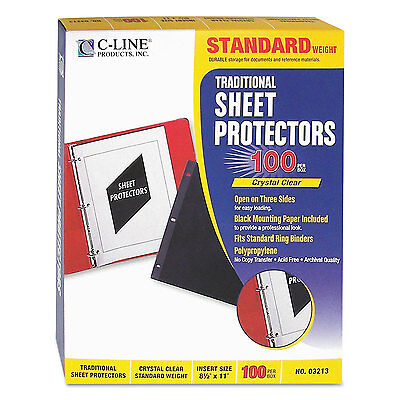 C-line Side Load Sheet Protector Strd. Weight 11x8-12 100bx Cl 03213