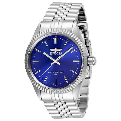 Invicta Men's Watch Specialty Quartz Blue Dial Silver Tone Bracelet 29375