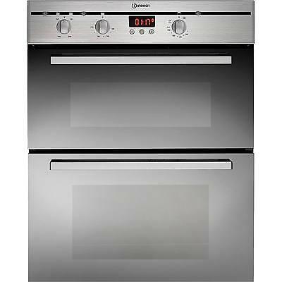 Indesit FIMU23IXS Built Under Double Programmable Oven in Stainless Steel New