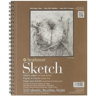 100 Sheet Sketch Pad Notebook 9 X 12 Sketchbook Art Artist Drawing Paper Book