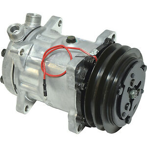 NEW 4643 SANDEN STYLE SD7H15  COMPRESSOR  W/ 2 GROOVE CLUTCH  1 X 14 FTGS