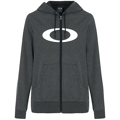 Oakley Ellipse FZ Mens Zip Up Hoody Blackout Light Heather XXL
