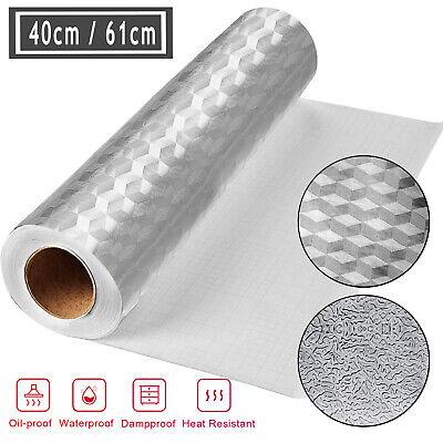 Kitchen Self Adhesive Aluminum Stickers Dust Oil Proof Waterproof Foil Wallpaper