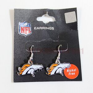 Official NFL Licensed ***Denver Broncos*** Pair of Team Logo Earrings