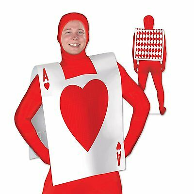 Alice In Wonderland Card Costume (1 ALICE IN WONDERLAND Party Costume Accessory Plastic CARD SUIT VEST)